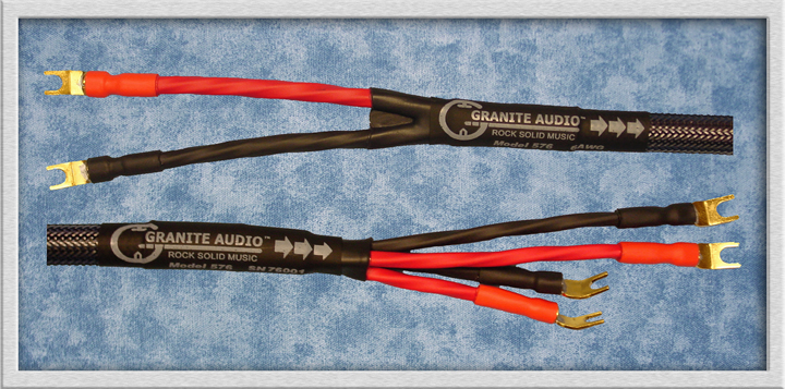 Model 570 10AWG pure copper speaker cable. single or bi-wire. spade ...
